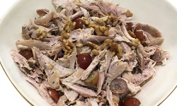 Chicken grape walnut salad platter web