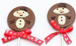 Xmas choco lollipop snowman web