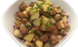 Young potatoes salad platter web