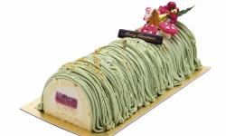 Xmas pistachio log cakew web
