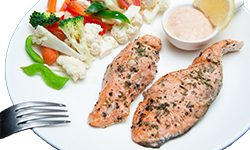 Baked pepper salmon