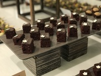 Beetroot Brownies Canapes - YOLO from YOLO