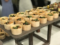 Miso Salmon Flakes Canape Catering - YOLO from YOLO