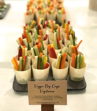 Veggie Dip Cups Canape Catering - YOLO from YOLO