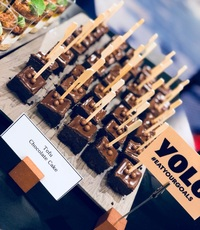 Tofu Chocolate Cake Canape Catering - YOLO from YOLO