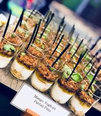 Mango Yogurt Parfait Pots Canape Catering - YOLO from YOLO