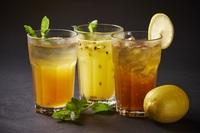 Yuzu Mint Iced Tea & Passion Fruits Iced Tea & Ice Lemon Tea from Harvestry