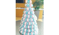 Earl Grey & Rose 10 Tier Macaron Tower from Annabella Patisserie