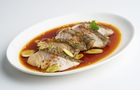 Steamed Fish Fillet with Soya Crumbs and Leeks - Bellygood Caterer from Bellygood Caterer