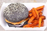 BBQ Salmon Burger with Charcoal Bun from Daytox 7