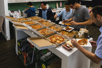 A selection of pizzas provided by Spizza for Lunch Catering. from Spizza