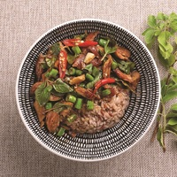 Grilled Chicken with Basil Rice Bowl from Ocha Fresh Thai