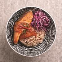 Salmon Chu Chee Rice Bowl from Ocha Fresh Thai