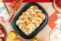 Mentaiko scallops from Alpine Spring Catering