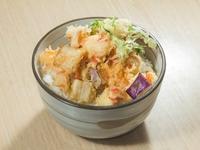 Seafood Tempura Pancake with Sakura Prawn Rice Bowl from Superdon