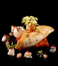 Pan Roast Snapper with Lychee Salsa - Gustos Catering from Gustos Catering