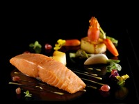 Slow Cooked Confit Salmon, Lime Butter Sauce - Gustos Catering from Gustos Catering
