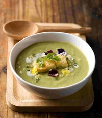 Zucchini Veloute with Shaved Parmigiano - Gustos Catering from Gustos Catering