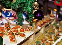 Christmas Buffet Catering Decor - Oh's Farm Catering from Oh's Farm Catering