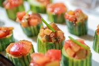 Cucumber Cup Ratatouille Canapes - Oh's Farm Catering from Oh's Farm Catering