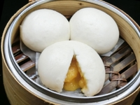 Steamed Lava Buns with Salty Egg Custard Filling from Aberdeen Chau Kee Dim Sum