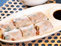 Steamed Rice Flour Roll with Angus Beef Slices from Dim Sum Heritage