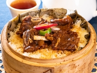 Steamed Rice with Black Peppered and Garlicky Beef Short Ribs from Dim Sum Heritage