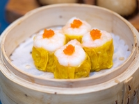 Steamed Traditional Diced Shrimp and Pork Dumplings (Siu Mai) from Dim Sum Heritage