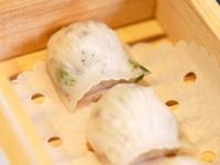 Steamed Shrimp Dumplings with Black Truffle from Dim Sum Heritage