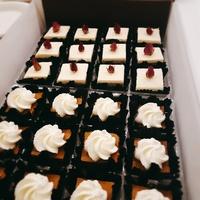 Customer Dhwani - Petite Wraps Platter, Mixed Fruit Platter, Yuzu Cranberry Pound Cake from Cedele