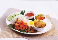 Nasi Lemak Set A  (Curry Chicken & Sambal Prawn) - Streats Menu Photo from Streats