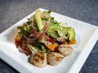Grilled Tiger Prawns Kabocha Salad from Clicked Restaurant
