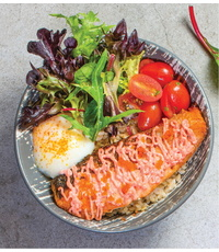 Salmon Mentaiko Bowl from Cultures Specialty Coffee & Kitchen