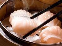 Steamed Shrimp Dumplings Har gow from Dim Dim Sum