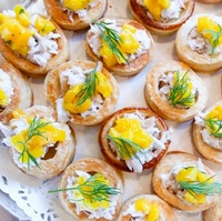 Crab Meat and Mango Vol au Vent from La Casa Catering