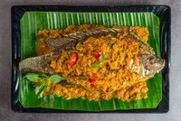 Fried Fish in Sundanece Rich Gravy - Ikan Pesmol from Ayam Penyet President
