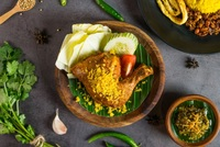 Fried Chicken Green Chili Set - Set Ayam Cabe Ijo from Ayam Penyet President