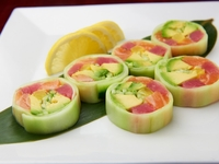 Cucumber & Salmon Sushi Roll from A Fun Kitchen Catering