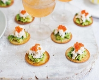 Guacamole and Crab Crostini from A Fun Kitchen Catering