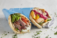 Beef Steak & Salmon Wraps from Supergreek