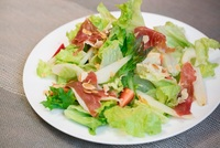 Pear Proscuitto Salad from Just Helen's