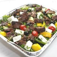 Greek Salad with Roast Lamb from Ebeneezer's Kebabs & Pizzeria