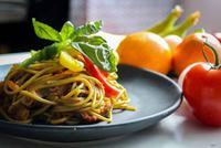 Spicy Vegetarian Pasta from Monsieur CHATTE