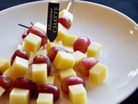 Comte Cheese with Grape on Stick  from Monsieur CHATTE