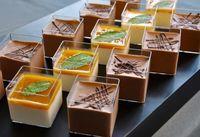 Dark Chocolate Mousse in Verrine &  Mango Coulis Panacotta Verrine from Monsieur CHATTE