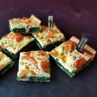 Salmon, Spinach Tart from Monsieur CHATTE