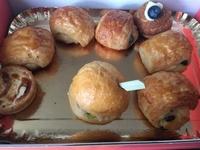 Customer Dewi - Mini Morning Pastries Platter (Pain au Chocolat), Mini Quiches (Tomato & Feta), Mini Sandwiches Platter (Ham and Cheese), French Cream Puffs (Vanilla Creme Chantilly) from Artisan Boulangerie Co (abc)