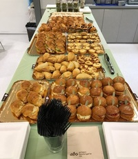 From Customer Kerine -  Mini Croissant Sandwiches Platter,  Gourmet Sandwiches, Baked Puffs, Salad Shots,  Finger Sandwiches, Mini Quiches, Mini Sandwiches Platter from Artisan Boulangerie Co (abc)