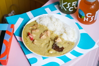 Green Curry Turkey with Rice  from Kitchen Bros
