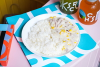 Turkey and Sweetcorn Sauce with Rice  from Kitchen Bros